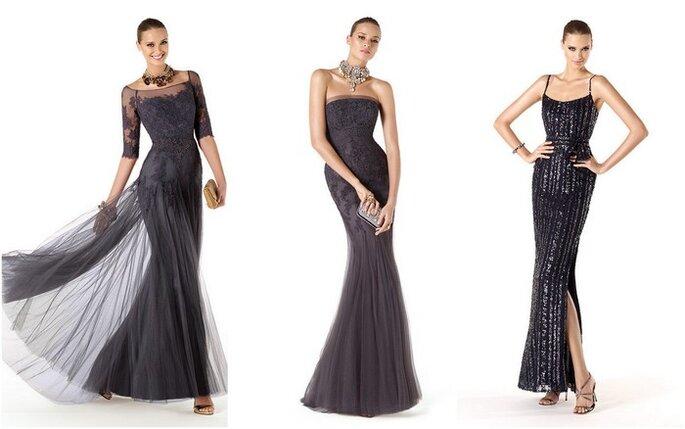 Robes longues noires de la collection Pronovias 2014. Photo: www.pronovias.es