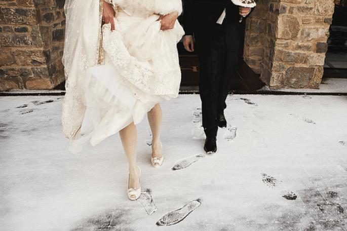 Ein echtes Weihnachtsmärchen: Heiraten im Schnee - Foto: Cherry Waves