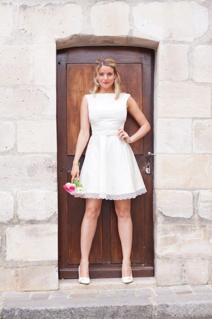 Robe de mariée Les Corsets d'Aëlle 2013, modèle Daliane - Photo : Florence Akouka - FleurdeSucre photographie