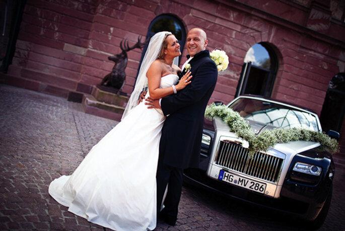 Glückliches Brautpaar: Christina und Marco, fotografiert von Benni Wolf.