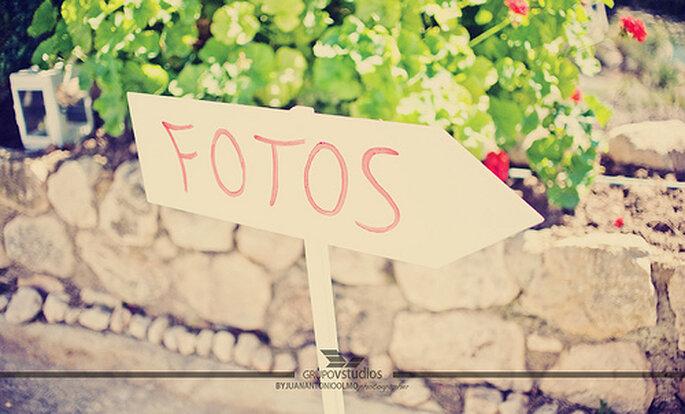La señalización es una forma original de personalizar el sitio de la celebración. Foto: Juan A. Olmos