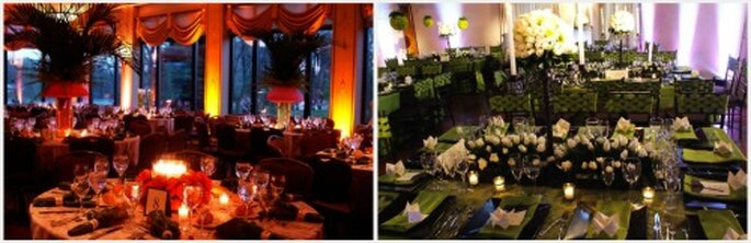 Puedes crear diversos estilos de decoración con velas y rosas. Fotos: Top Brand Events