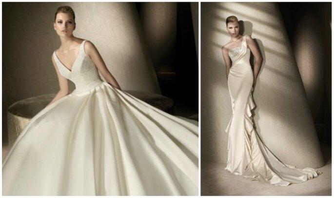 Dos modelos para novias sencillas. Foto: San Patrick