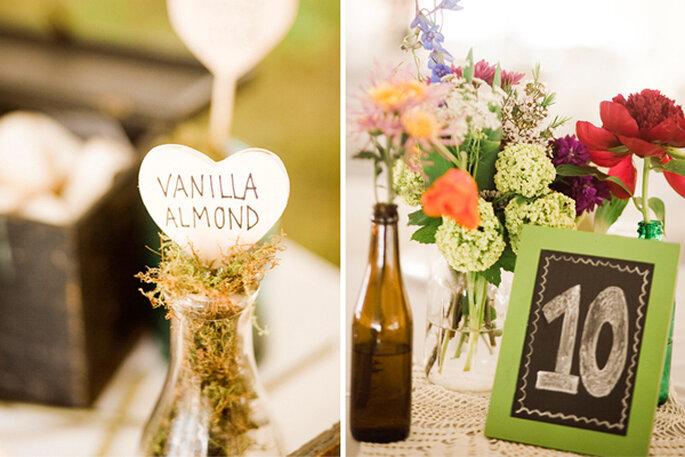 Indicadores de mesa súper divertidos para tu boda - Foto JR Weddings