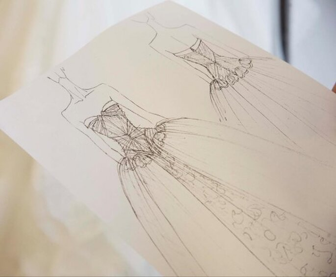Voceto de un vestido de novia Zac Posen para David's Bridal - Foto Zac Posen Facebook