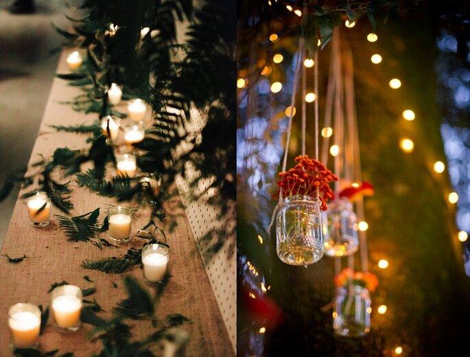 decoración boda de Navidad