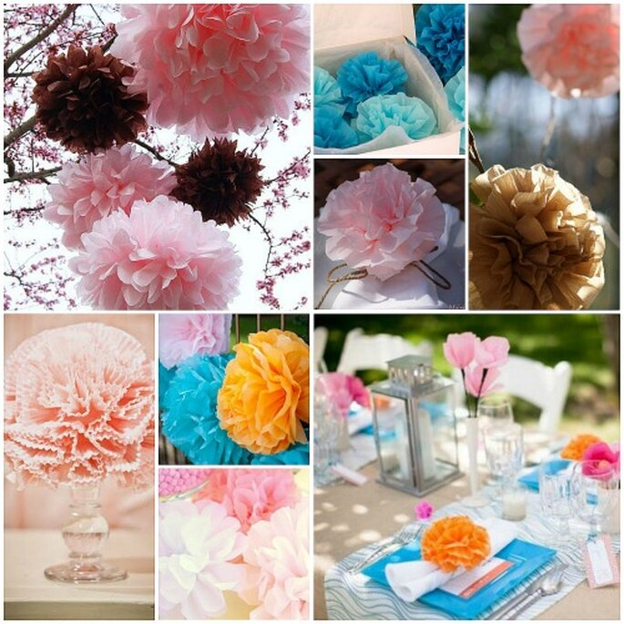 Los pompones para tu boda más bonitos, de Maison Pom Poms