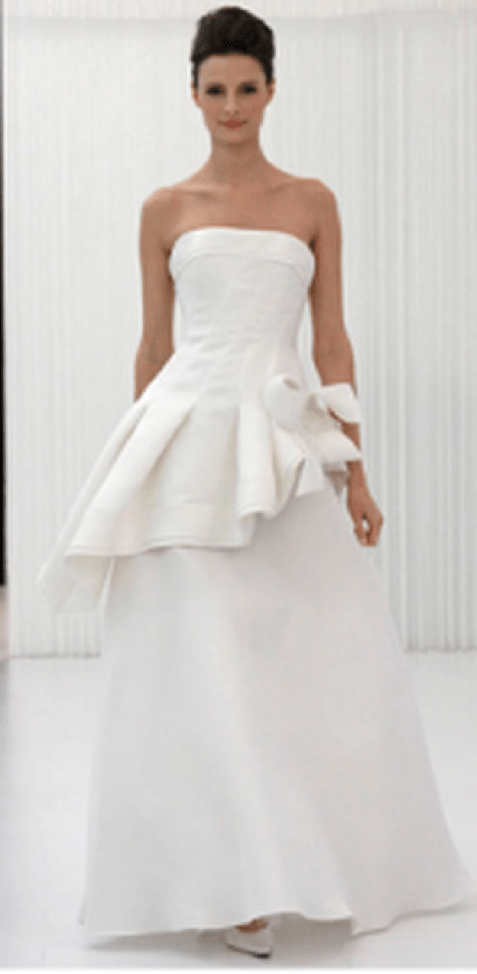 Wedding dress with peplum by Angel Sanchez