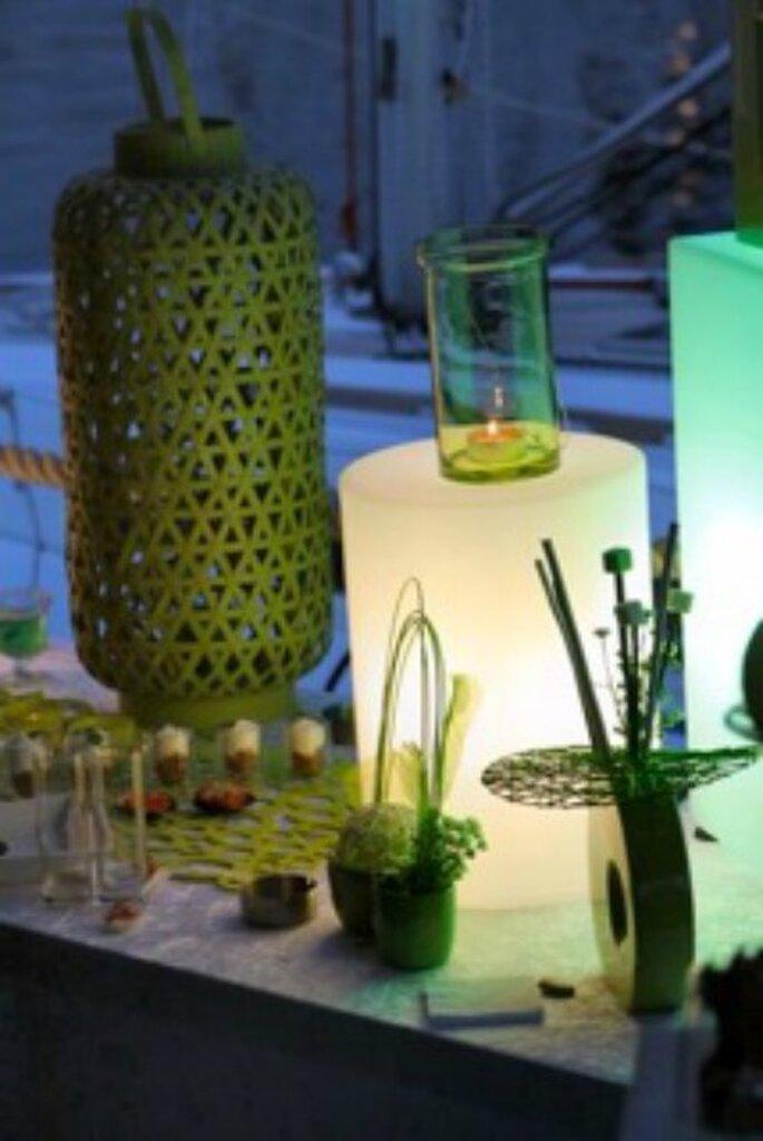 Décoration du buffet, on joue avec des pièces imposantes - Photo : One Day Event