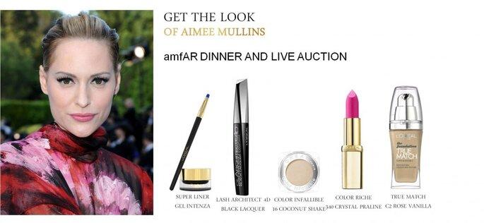 Aimme Mullins embajadora de L´OREAL maquillada en la gala del MET. Foto. Cortesía de L´OREAL