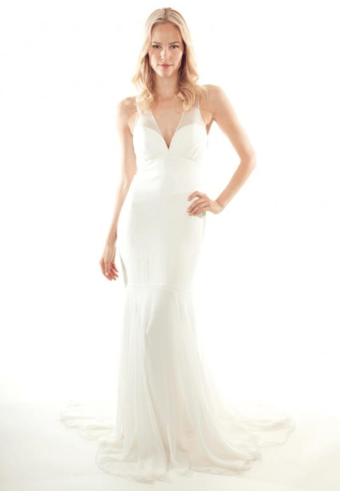 Vestido de novia 2013 largo y con escote en V - Foto Nicole Miller