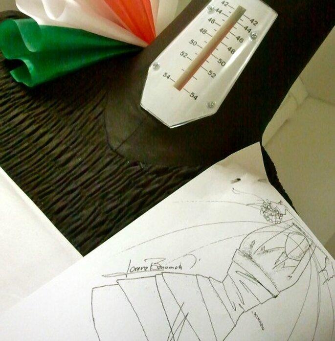 Dettagli di un cartamodello in prova - foto Spose & Stile
