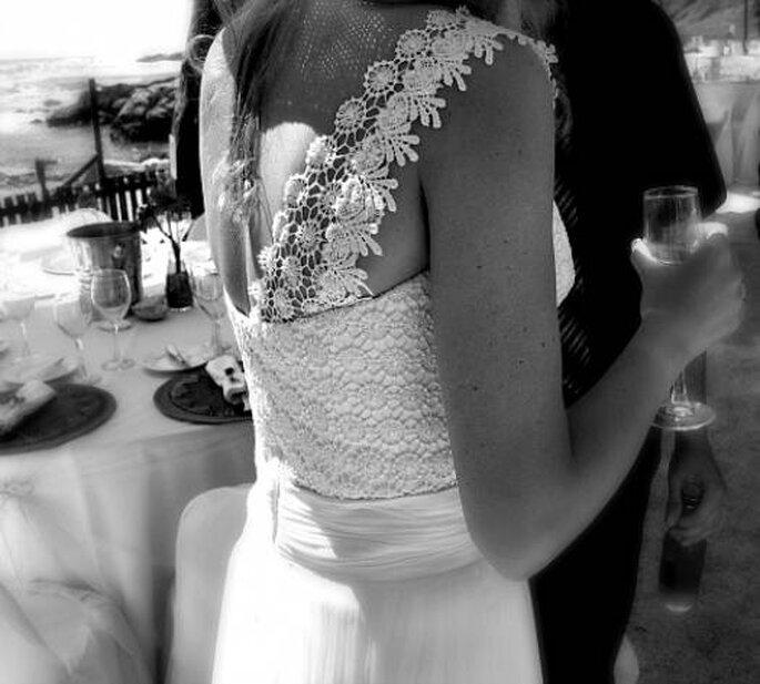Robe de mariée avec une seule bretelle, Angeles Tormo