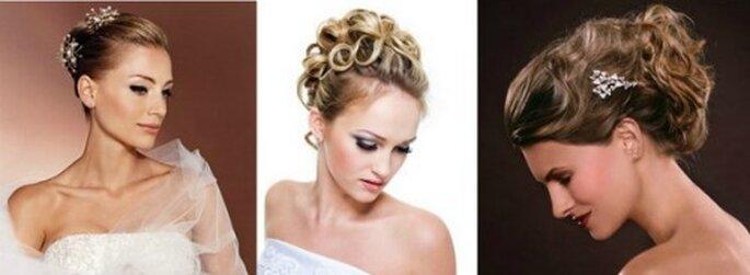 Lisci,mossi o ricci...il raccolto sta bene qualunque sia il tuo tipo di capelli. Foto www.pianetadonna.it,www.matrimonio.it,www.matrimonio.com