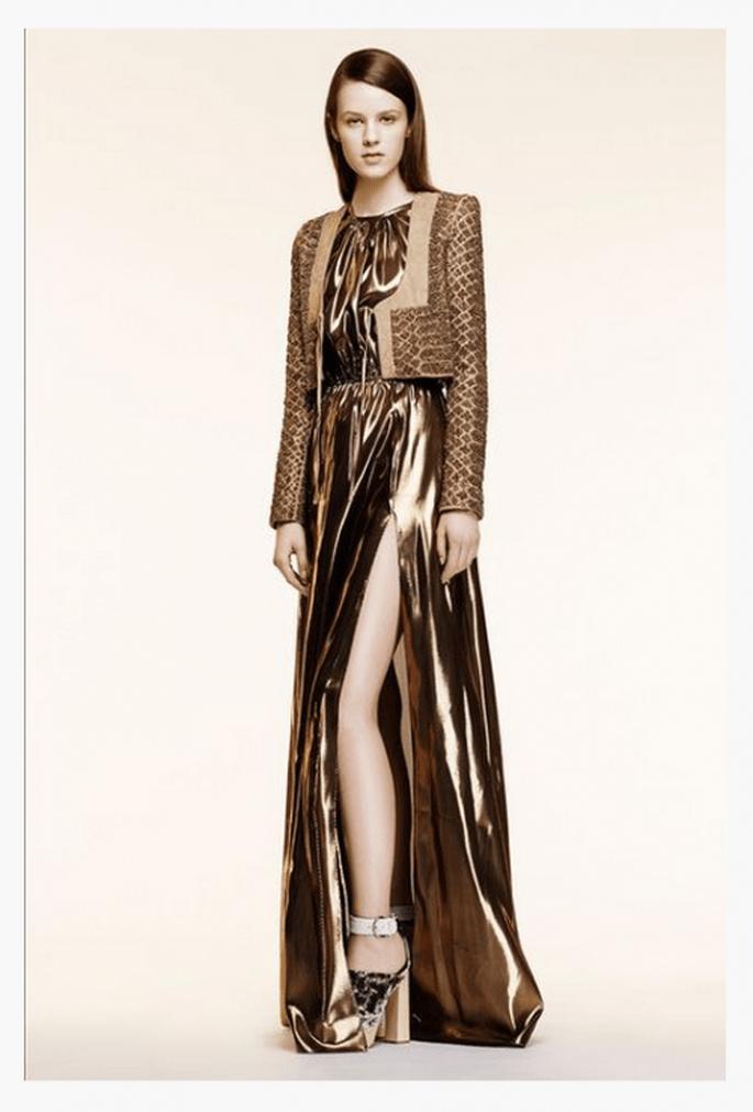 Vestido de fiesta 2014 en color metálico - Foto Altuzarra