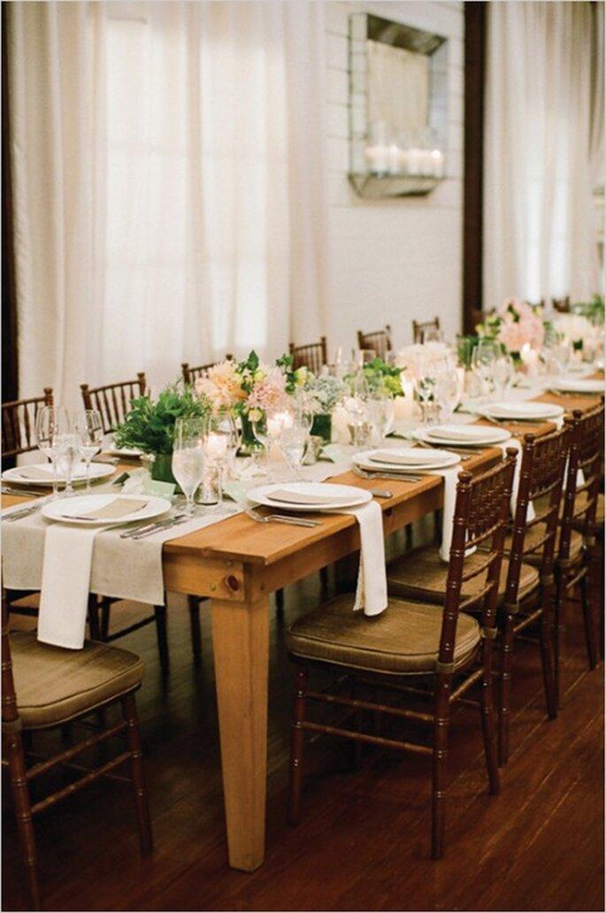 Elige la inspiración que más te guste y sorprende en tu banquete de bodas - Foto Eric Kelley