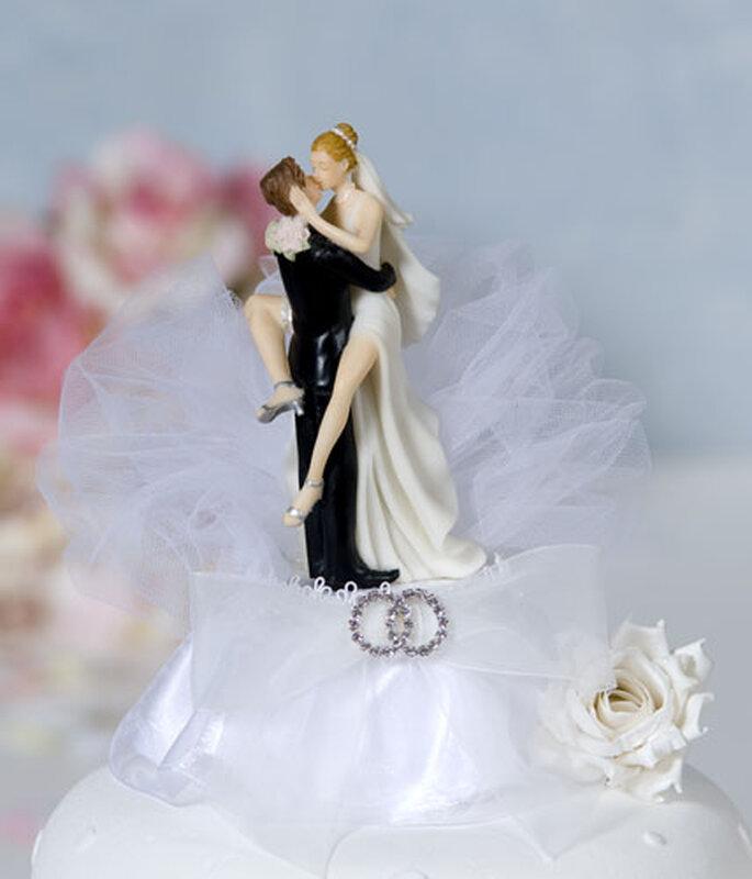 Sexy adorno de pastel de bodas