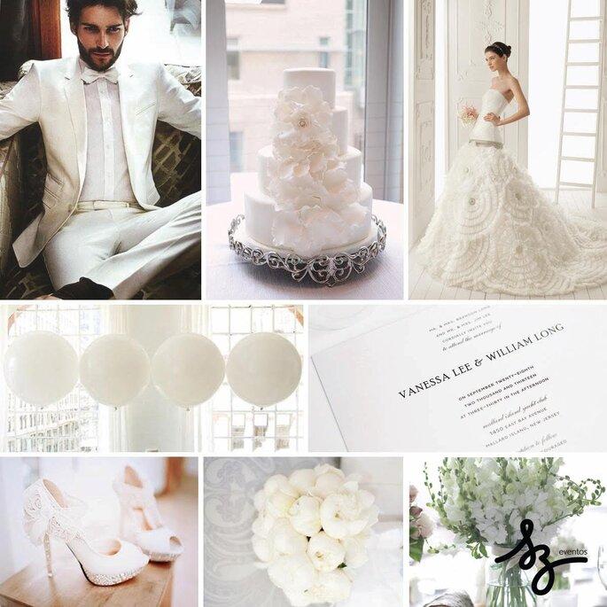 Decoración de boda estilo all white
