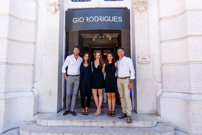 Equipa II Breakfast Wedding Club: Gio Rodrigues, Filipa Martinez, Cristiana Simões, Cláudia Gameiro e Miguel Gameiro. Foto: Ludgi Fotógrafis