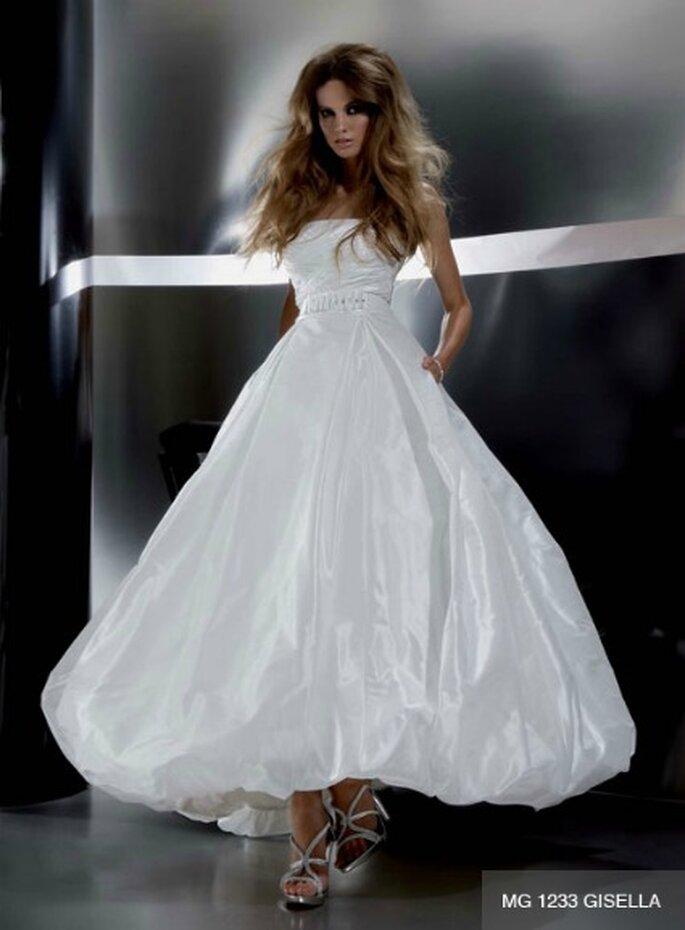 Abito da sposa alla caviglia con ampia gonna effetto balloon. Gritti Spose Collezione 2012