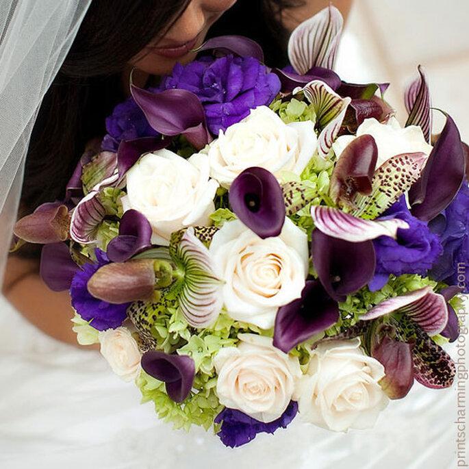 ¡Original ramo de novia! ¿Qué os parece? Foto: Rebeccas Silver Rose