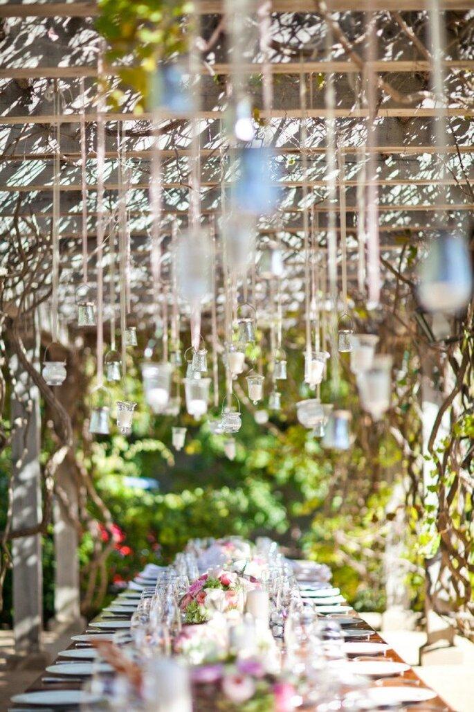Decoración suspendida para bodas - Foto Mi Belle Inc.