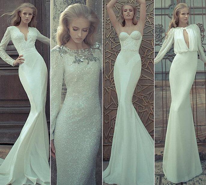 Vestidos de novia estilo años 50, de Yaki Ravid Bridal Couture 2012. Foto: Yaki Ravid Bridal Couture