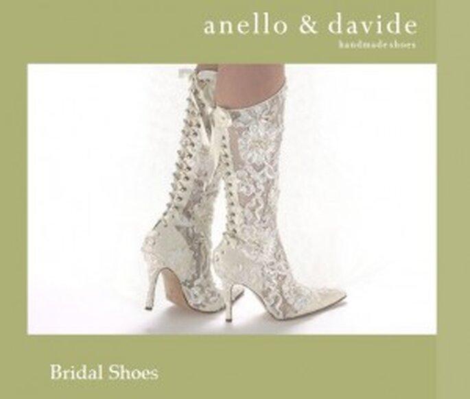 Botas de novia de encaje