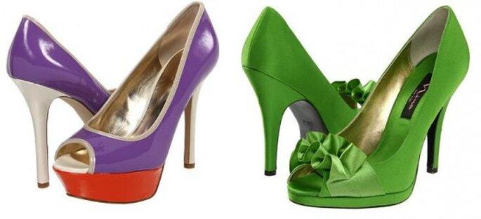 Zapatos de novia, Guess y Nina. Foto de Zappos.com