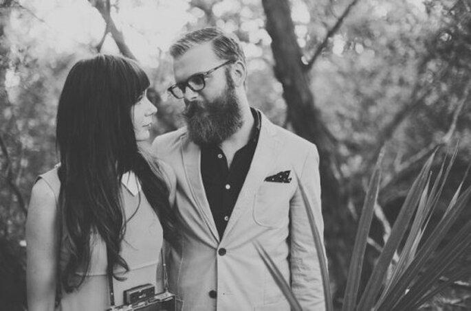 Romántica sesión de fotos pre boda inspirada en Wes Anderson - Foto Alyssa Shrock
