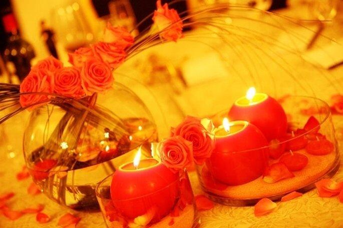 centro de mesa velas