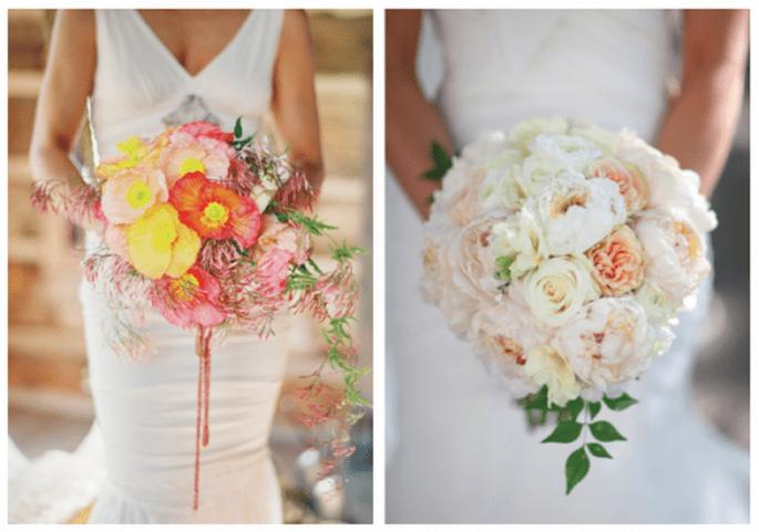 Bouquet avec beaucoup de rose différents et une touche de jaune - Photo Jose Villa y Wild Flower