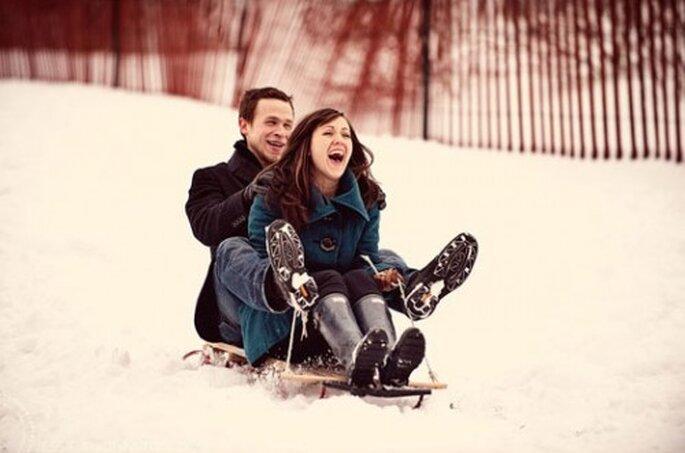 Consejos para planear una luna de miel en invierno - Foto Jessica Johnston en Aisle Candy