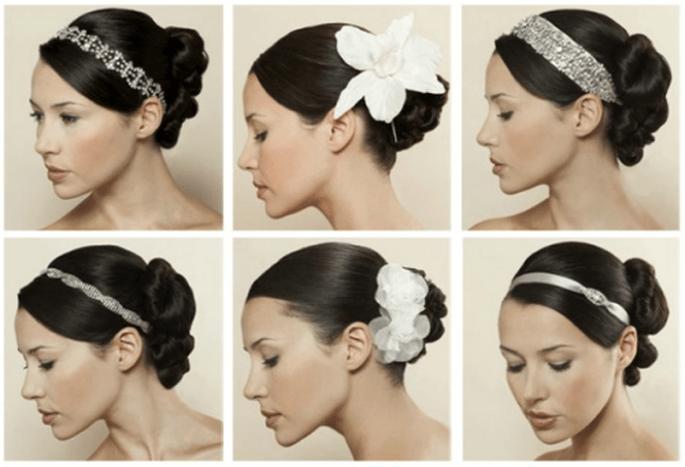 Haaraccessoires unterstreichen die Hochzeitsfrisur – Foto: sposalicious