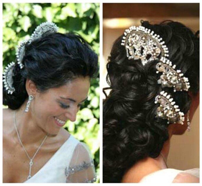 La peineta es tendencia en peinados de novia