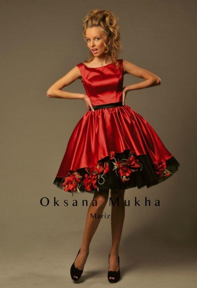 Robe de cocktail courte Oksana Mukha 2012, modèle Mariz