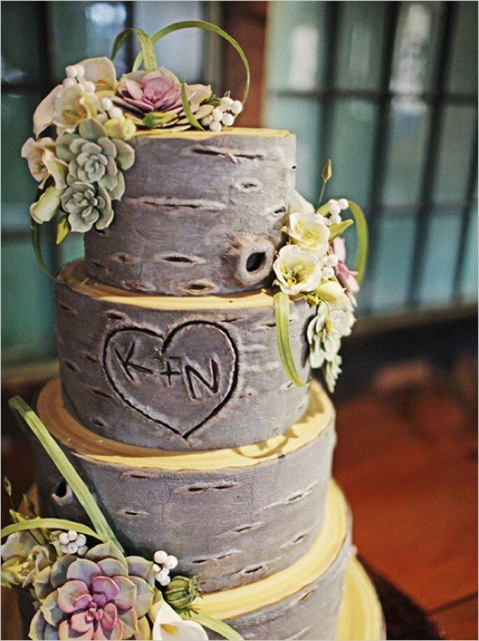 Los mejores pasteles de boda con estilo rústico - Foto Sergio Mottola
