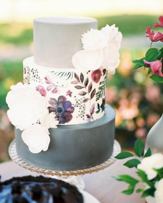 Pasteles de boda pintados a mano - Ryan Johnson Photography