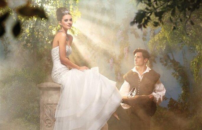 Vestido de novia inspirado en Cenicienta - Foto Alfred Angelo