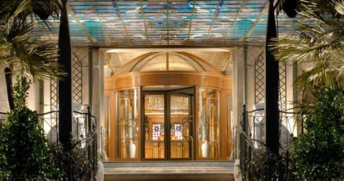 L'ingresso del Grand Hotel & SPA Parco dei Principi: il sogno che diventa realtà. Foto: Parcodeiprincipi.com