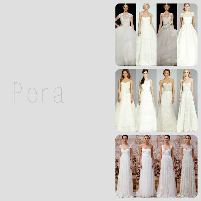 Para un cuerpo tipo pera, nada como un vestido de novia con falda amplia de corte A o imperio - Foto Zankyou