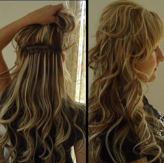 Lockenfrisur mit Extra-Volumen ist gleich doppelt so schön - Foto: Instagram/ hairextensionsshop