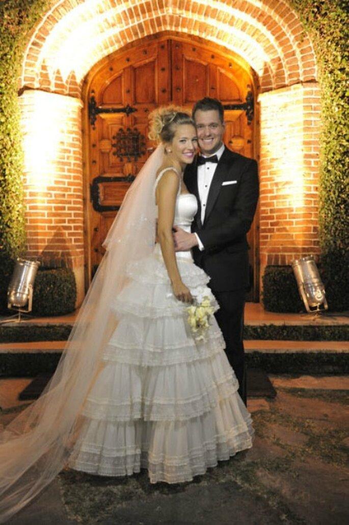 Los recién casados, Lopilato y Bublé en la boda religiosa de Argentina