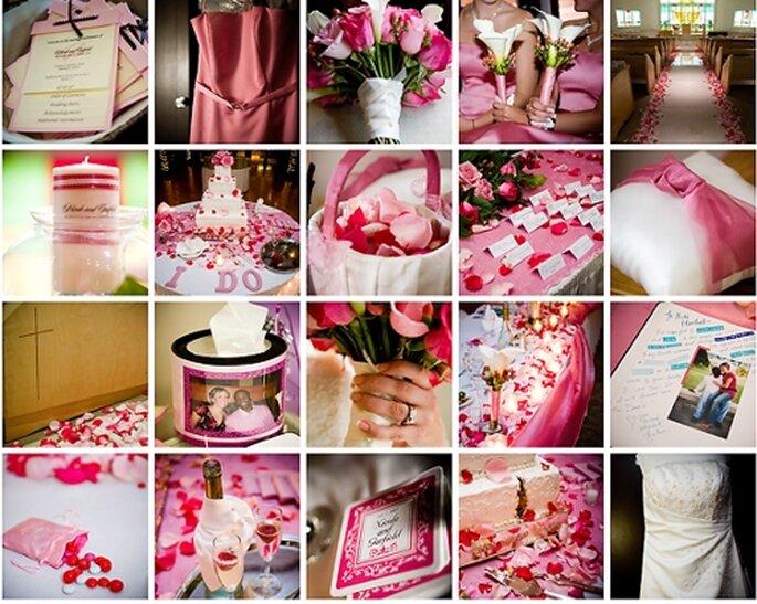 Hochzeitsdekoration in Rosa - Foto: Anne Ruthmann