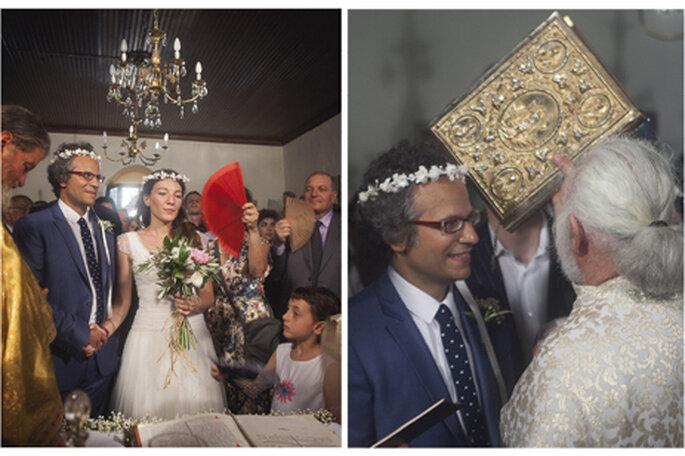 Cerimônia de casamento numa igreja Ortodoxa Grega. Foto: Charlotte Valade