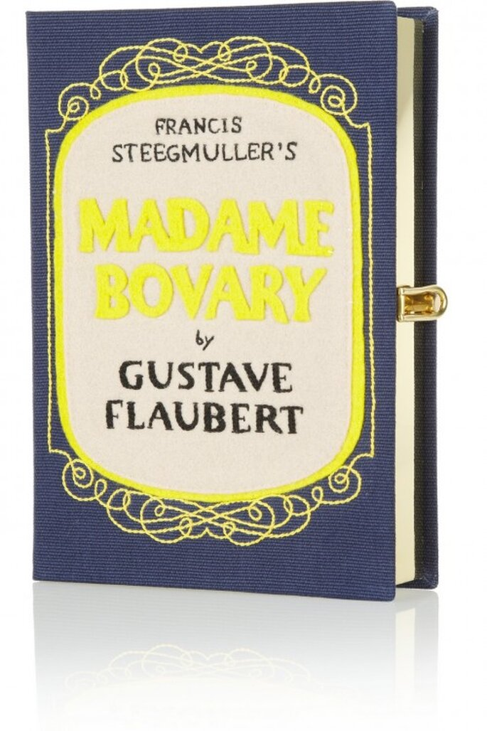 Bolso de fiesta con forma de libro de Gustave Flaubert - Foto Olympia Le-Tan en Net a Porter