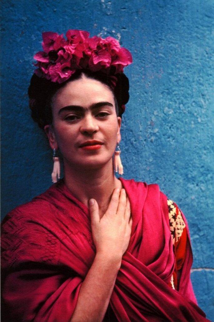 Tocados de novia inspirados en Frida Kahlo - Foto Conaculta