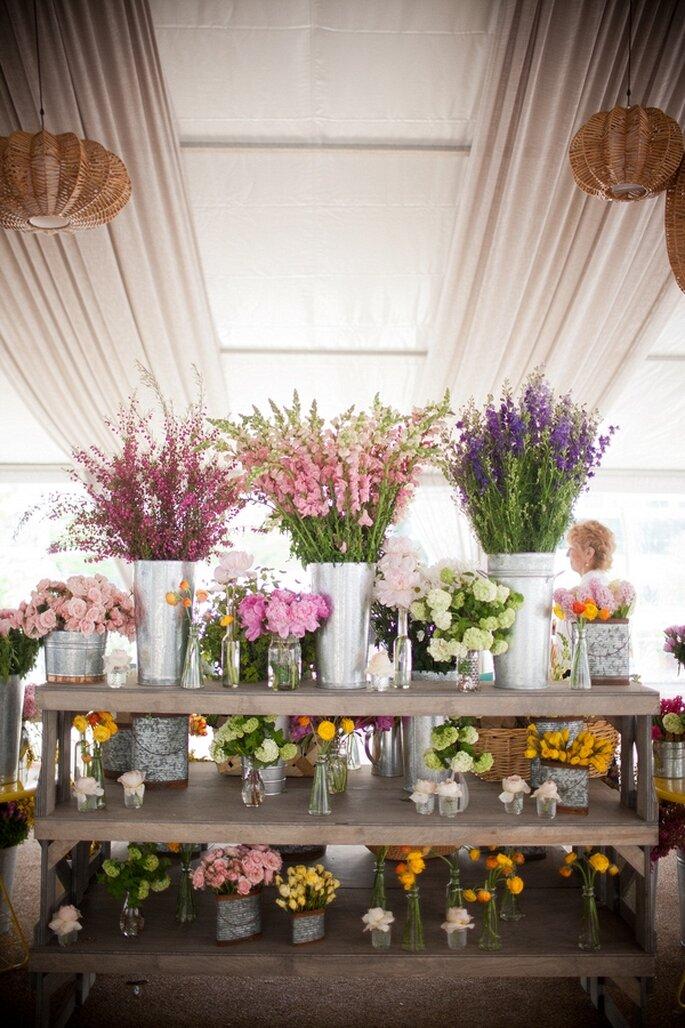 Consejos para elegir la mejor florería para una boda - Foto Blaine Siesser Photography