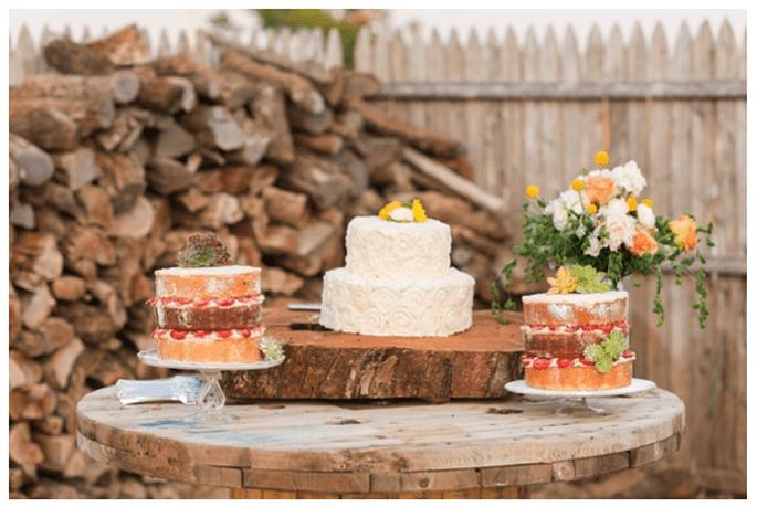 Los mejores pasteles de boda con estilo rústico - Foto Michelle Boyd Photography