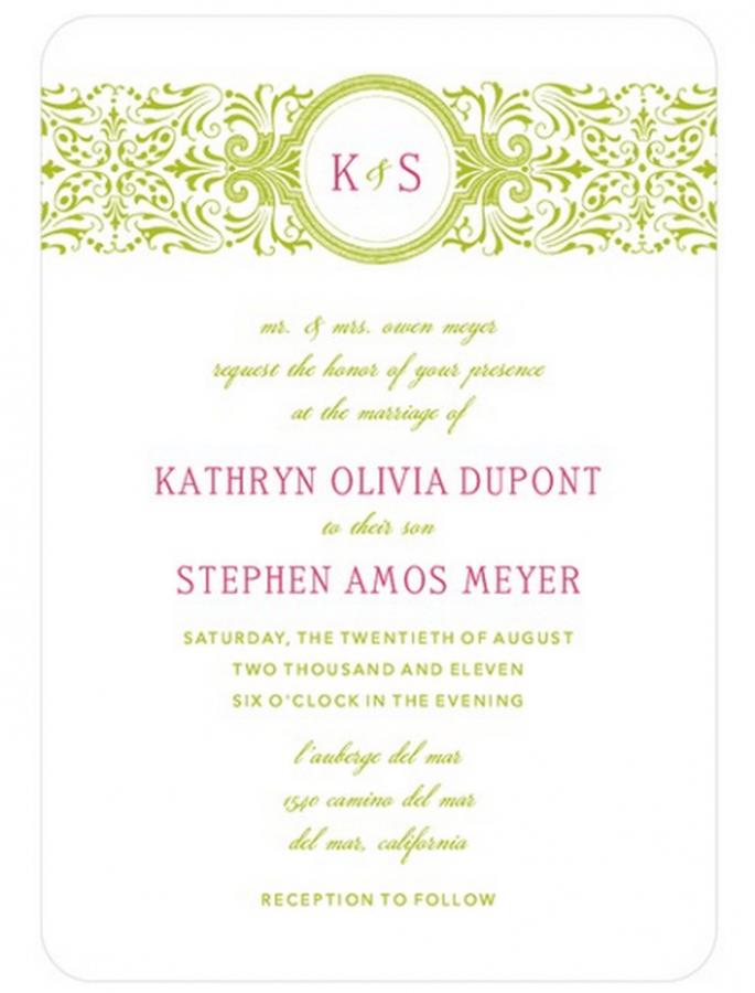 Elige diseños que vayan de acuerdo con el tema de la boda - Foto Wedding Paper Divas